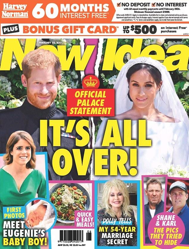 ¡Ups!  La revista sensacionalista australiana New Idea llegó a los quioscos el lunes por la mañana con un titular que afirmaba falsamente que el duque y la duquesa de Sussex se habían separado, solo unas horas antes de que la pareja anunciara la noticia de su bebé.