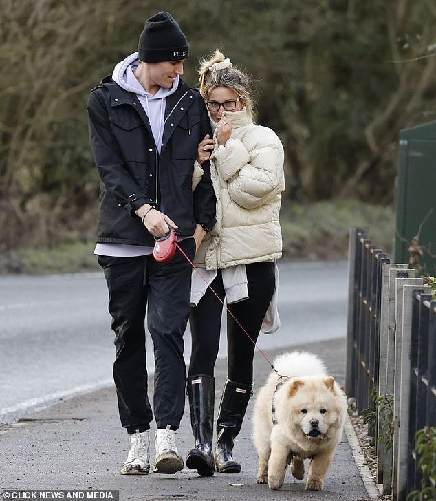 Aquí vienen: Ferne McCann hizo una rara aparición pública con su novio Jack Padgett el martes, poco después de celebrar su primer día de San Valentín como pareja.