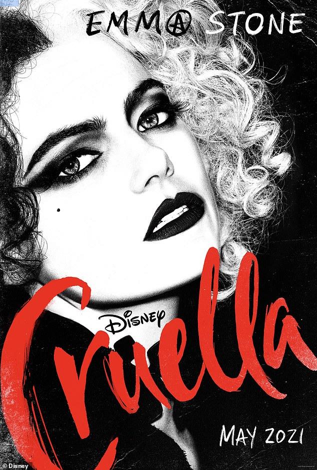Nueva imagen: el martes por la mañana se compartió el primer póster de la película de Disney Cruella.  Emma Stone puede ser vista como el personaje principal Cruella de Vil de 101 Dálmatas de Disney en la nueva película, Cruella.