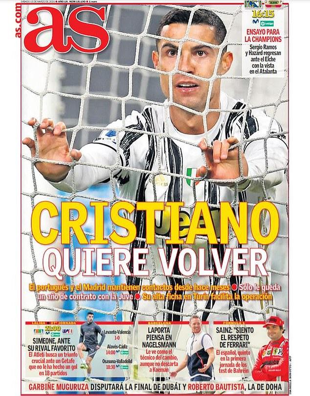 Cristiano Ronaldo quiere completar un regreso al Real Madrid, según informes en España