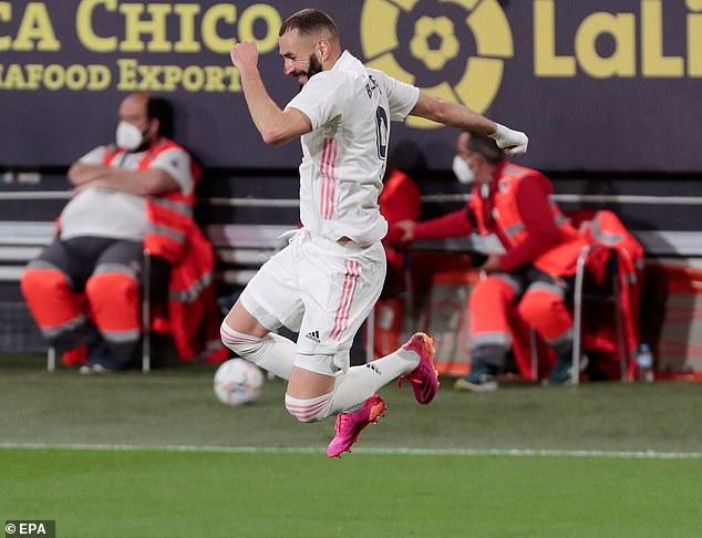 Zinedine Zidane elogió a Karim Benzema, que marcó dos goles en la victoria por 3-0 del Real Madrid sobre el Cádiz