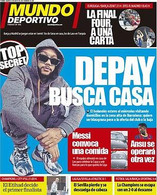 Memphis Depay ha sido visto buscando casa en Barcelona, informa Mundo Deportivo