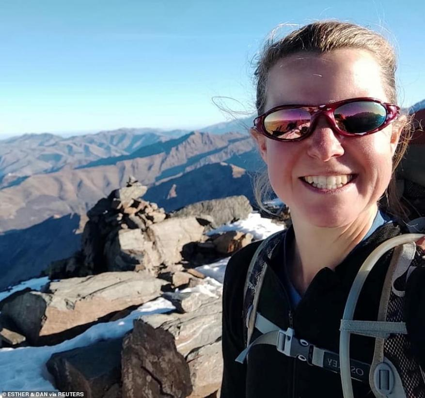 Wild animals dragged human remains linked to missing British hiker Esther Dingley (pictured) from an unknown place in the Pyrenees to the busy walking path where they were discovered, investigators claimed today