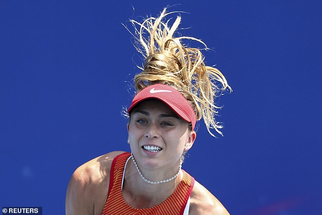 Paula Badosa aparece en acción durante sus cuartos de final contra Marketa Vondrousova