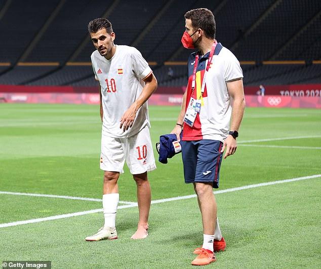 Dani Ceballos ha sido descartado para la final olímpica de fútbol de España contra Brasil el sábado después de que no pudo recuperarse de una lesión en el tobillo sufrida en su primer partido de la fase de grupos con Egipto.