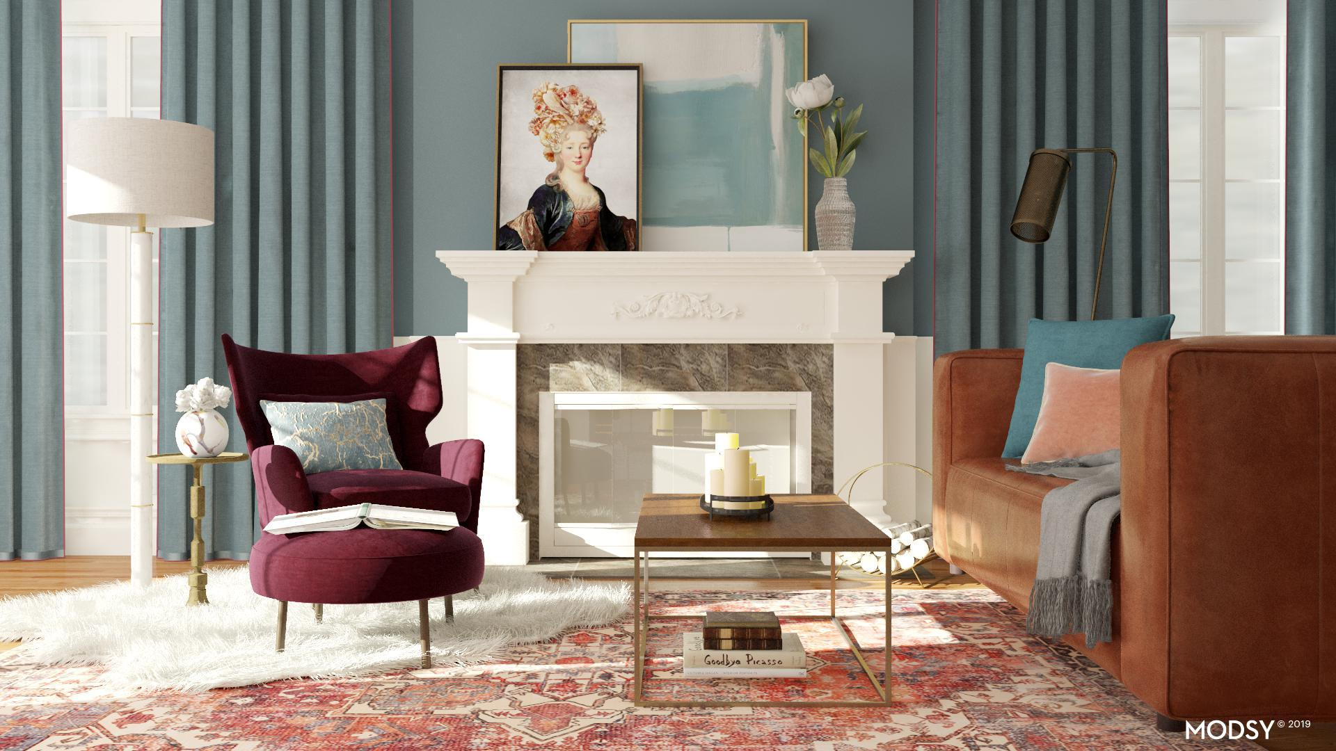 Classic Chic Ruby Living Room Traditional Classic Style Living Room Design Ideas