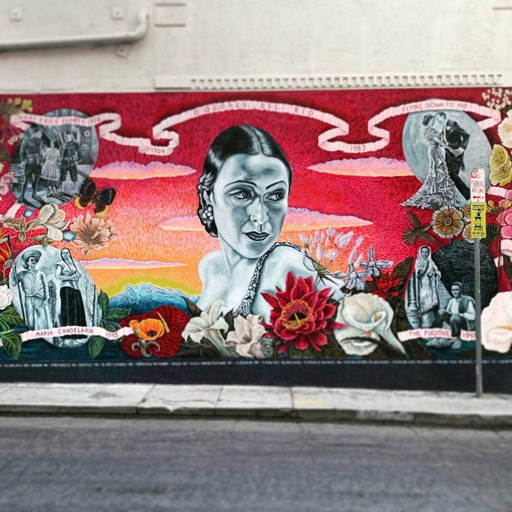 Dolores Del Rio mural, Hollywood