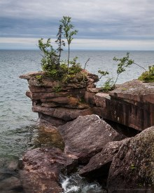 Duggan, Lake Superior from Madeline Island