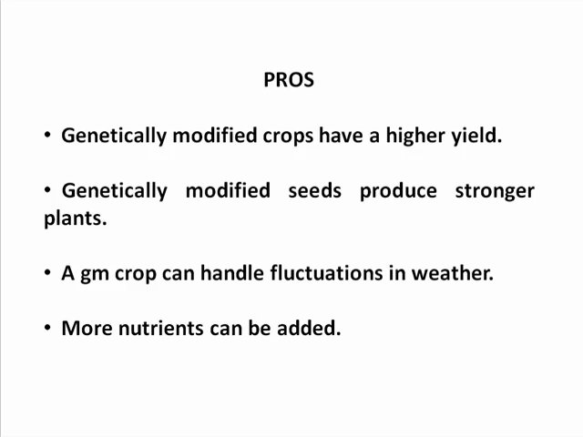 pros and cons of genetically modified foods table co gm food essay