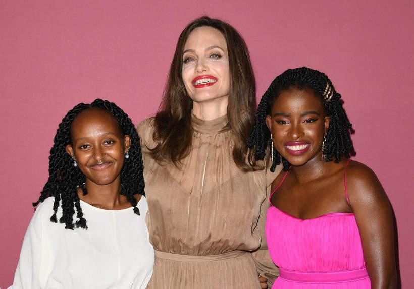 Angelina Jolie with her daughter Zahara