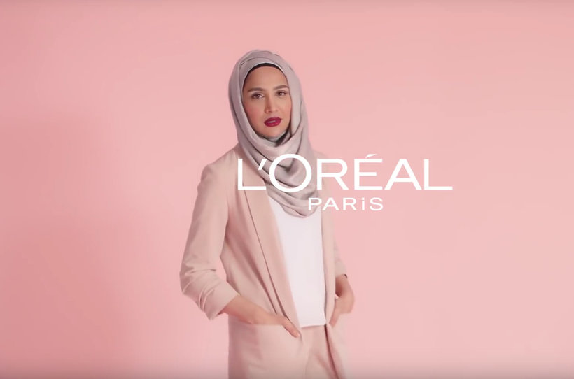 Image result for amena khan loreal ad