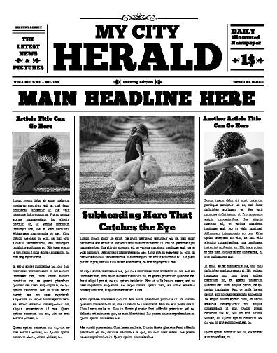 Newspaper Article Maker : newspaper, article, maker, Newspaper, Templates