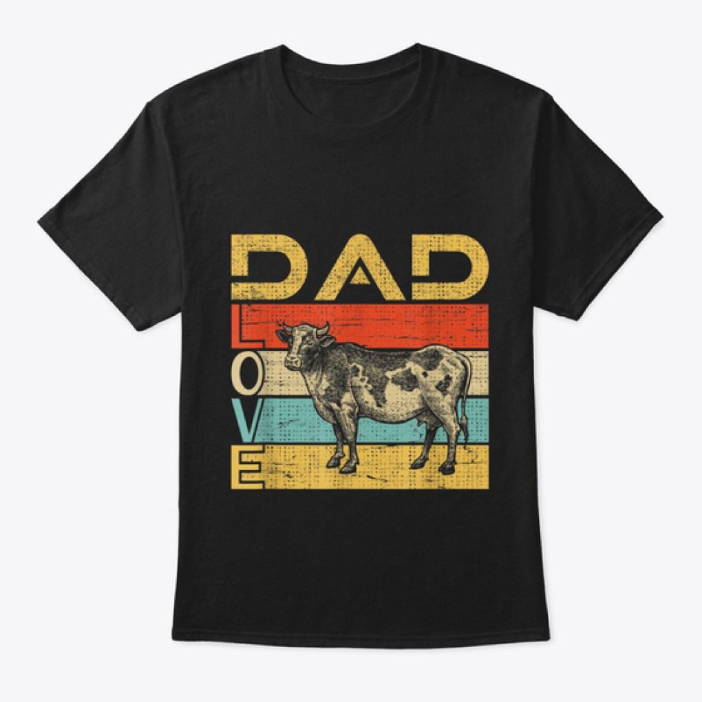 Dad Love Cow Lover Vintage Shirt Farmer