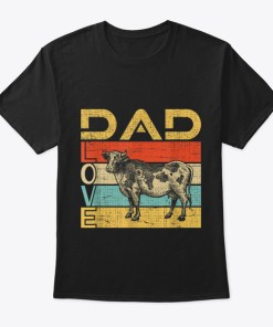 Dad Love Cow Lover Vintage Shirt Farmer