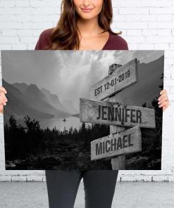 Est 12 01 2019 Jennifer Michael Signposts Poster Canvas