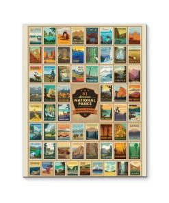 61 National Parks Canvas