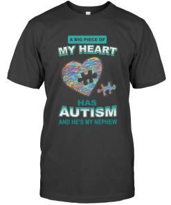 A Big Piece Of My Heart Has Autism He's My Nephew Mug