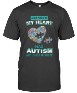 A Big Piece Of My Heart Has Autism She's My Niece Hoodie