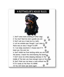 A Rottweiler's House Rules Canvas