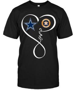 Dallas Cowboys Houston Astros Love Heart Shirt
