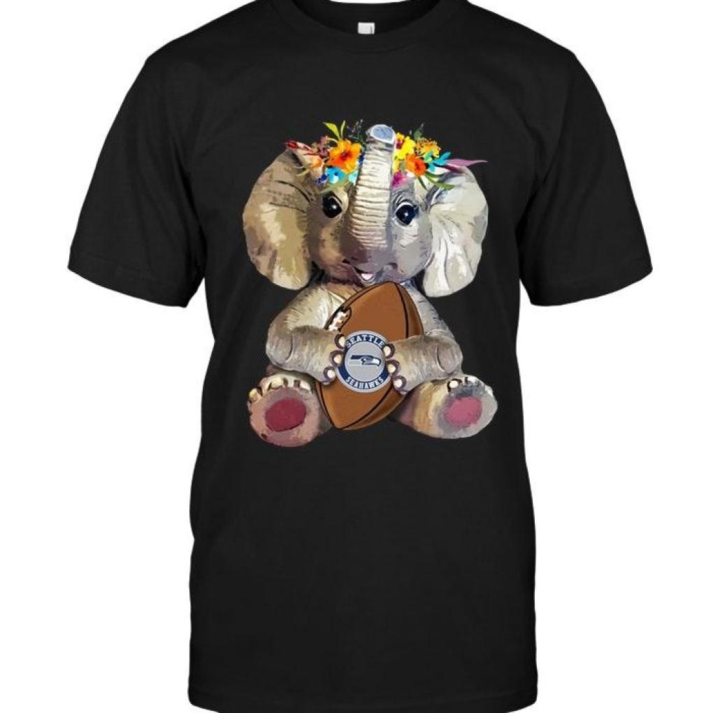 Elephant Loves Seattle Seahawks Shirt