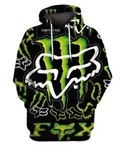 Fox Monster Energy Green 3d Full Print Hoodie