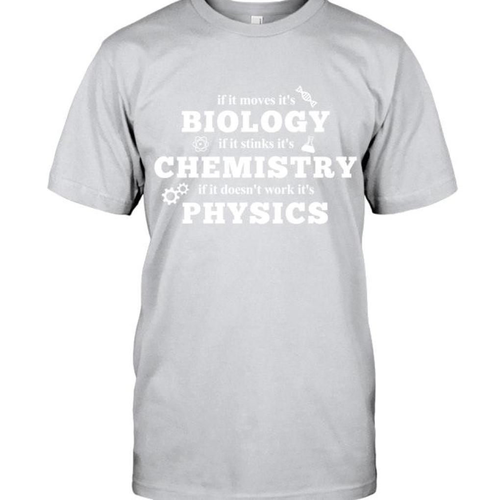 If It Moves It's Biology Black T Shirt