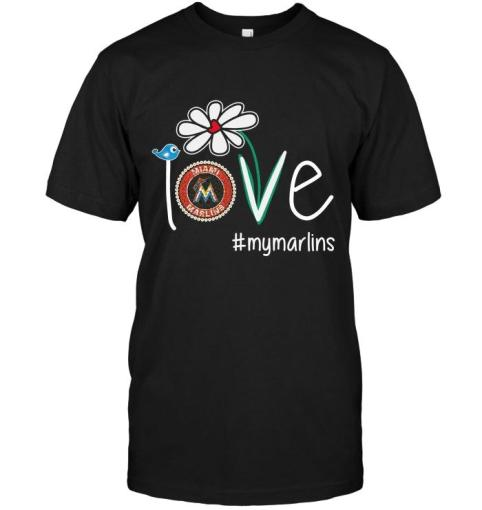 Love My Marlins Miami Marlins Daisy Fan Shirt