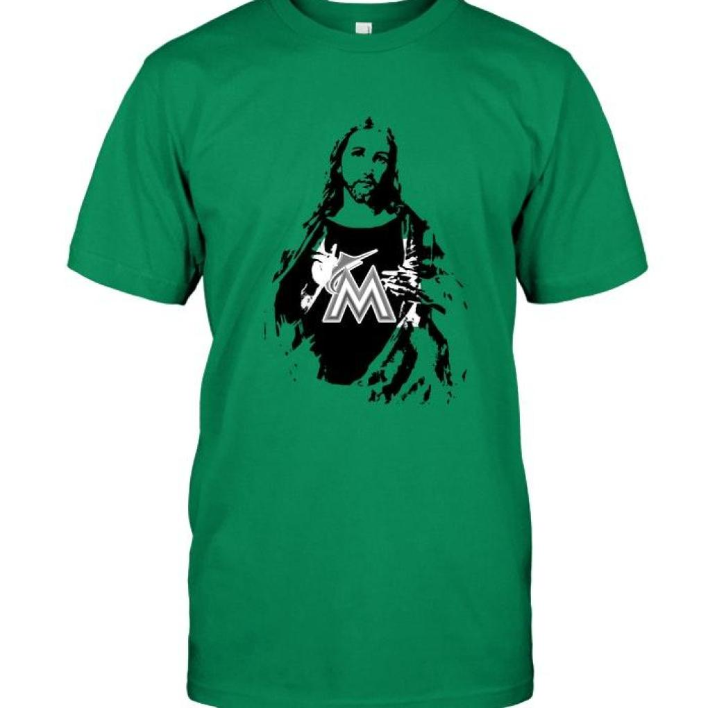 Miami Marlins Jesus Ripped Shirt