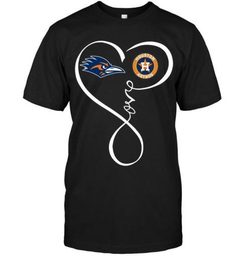 Utsa Roadrunners Houston Astros Love Heart Shirt