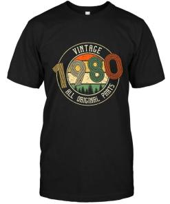 Vintage 1980 All Original Parts Retro Black T Shirt