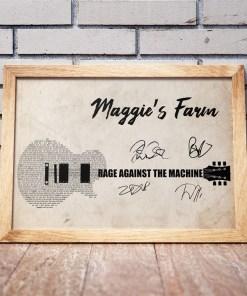 Rage Against The Machine - Maggie's Farm Poster Canvas