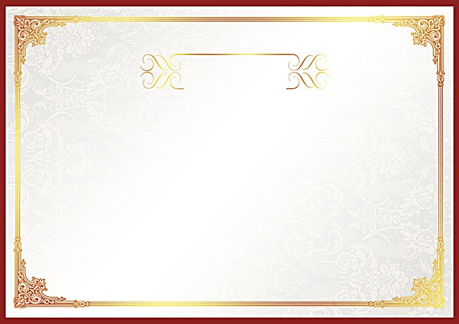 certificate border gold inspirational
