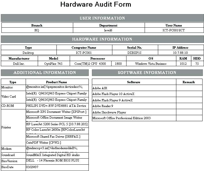 Audit checklist format xls