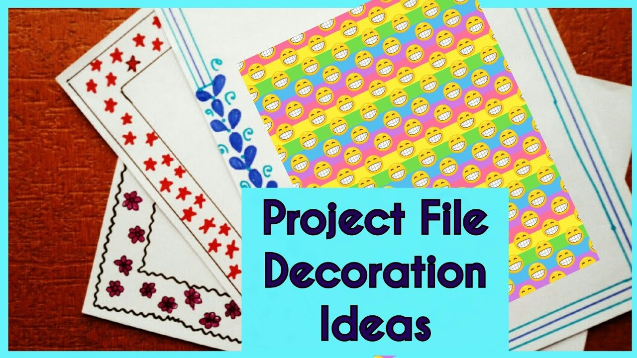 Chart Paper Decoration Ideas For Project Arte Inspire