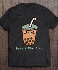 'Bubble Tea Club' Cute Bubble Milk Tea Boba Milk Tea Graphic Pullover Hoodie Shirt