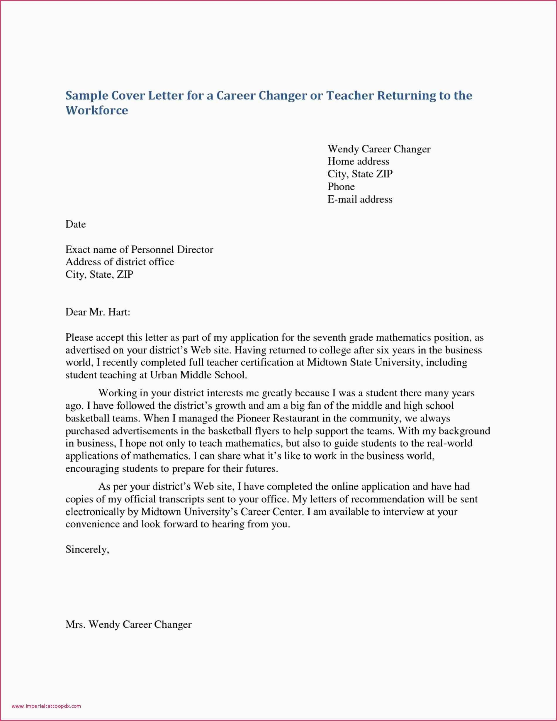 Cover Letter For Fresher Teacher Job Application Best Cover Letters