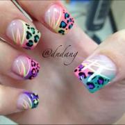 wedding nail design - swag