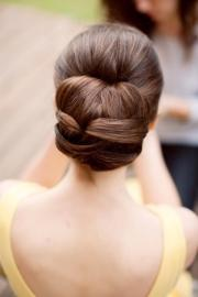updo hair model - beautiful straight