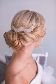 shimmering white headpiece