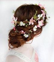 rustic wedding hair wreath woodland