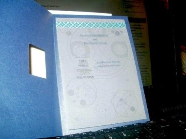 Tardis HochzeitsEinladungen Komplett Mit Gallifreyan Symbole 2060944  Weddbook