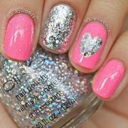 wedding nail design - cute pink
