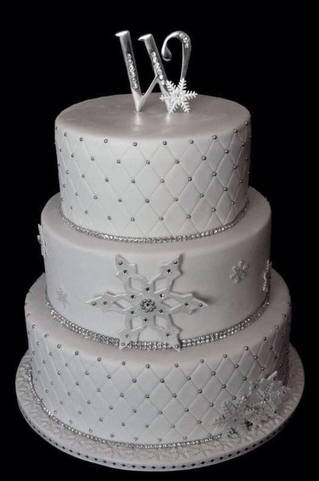 Winter Wedding Winter Wedding Cake 2063958 Weddbook