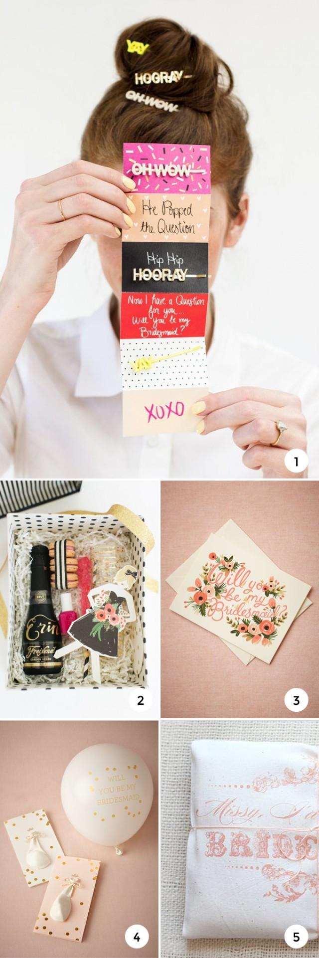 5 Will You Be My Bridesmaid Ideas Weddbook