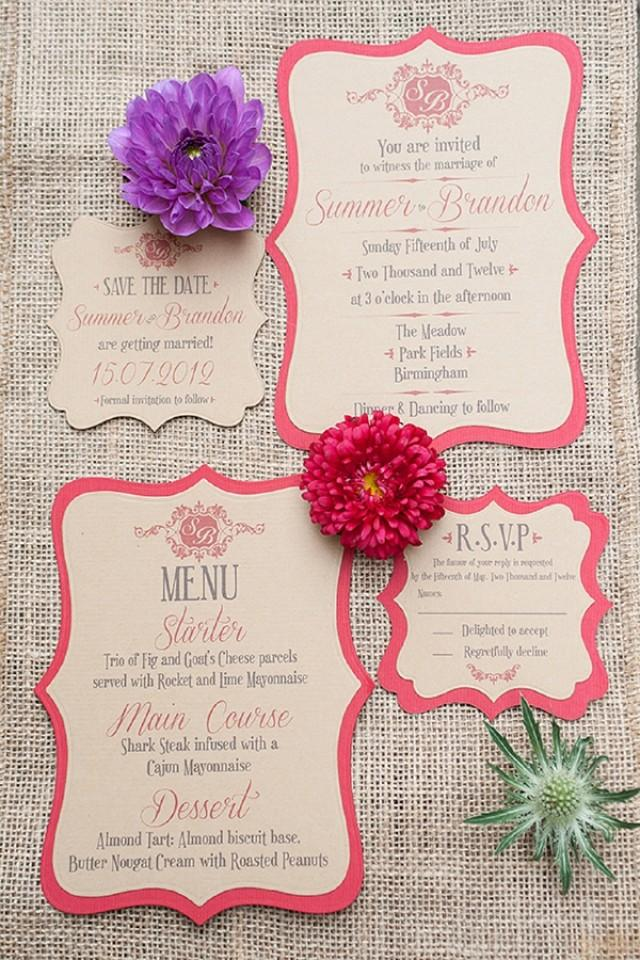 Quirky Wedding Invitations