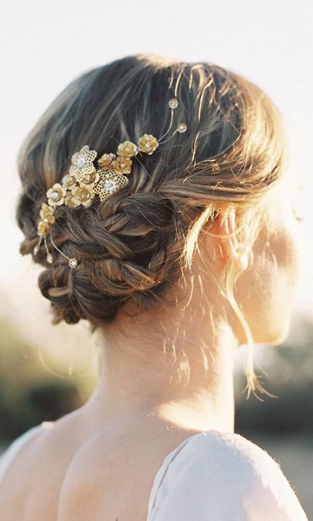wedding hairstyles paige floral hair b weddbook