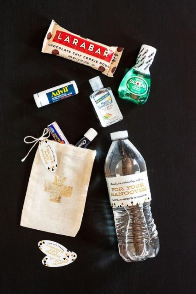The Best Guest Favor Ever DIY Wedding Hangover Kit