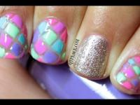 Wedding Nail Designs - Geometric Nail Art Using Striping ...