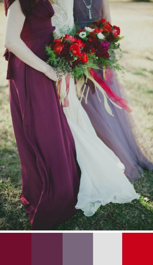 5 Burgundy Wedding Color Palettes  Weddbook